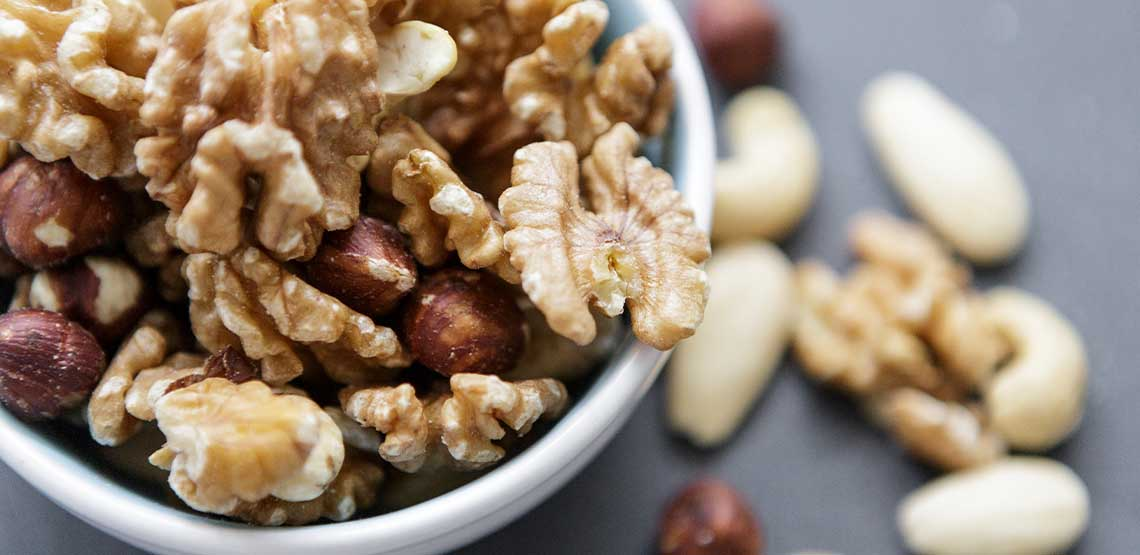 A bowl of nuts.
